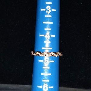 Jewelry - Elegant & Sparkling Zircon and 14k Rose gold